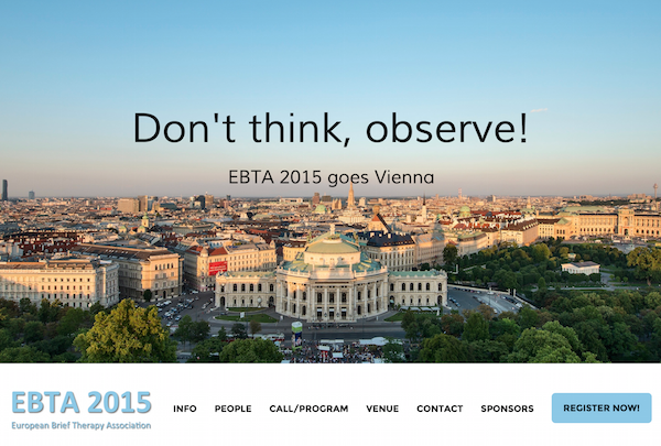 EBTA2015 - Don't think, observe!