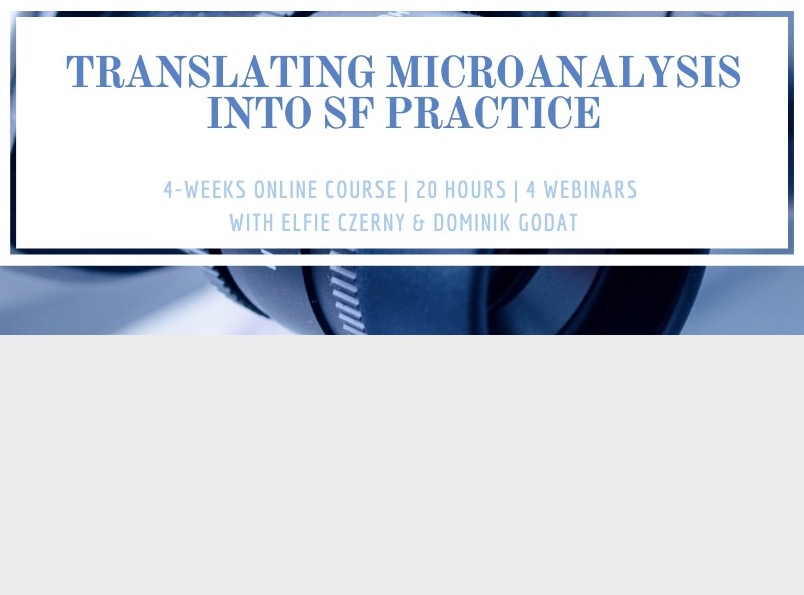 Translating Microanalysis of Face to Face Dialogue into Solution-Focused Practice